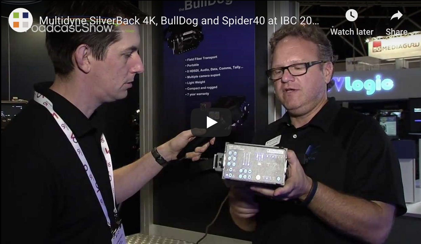 Frank Jachetta talks about the SilverBack 4K, BullDog and Spider40