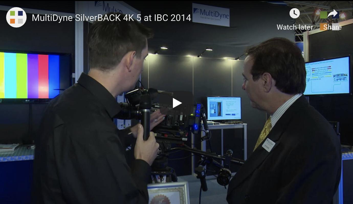 Jim Hurwitz unveils MultiDyne SilverBACK 4K5 at IBC 2014