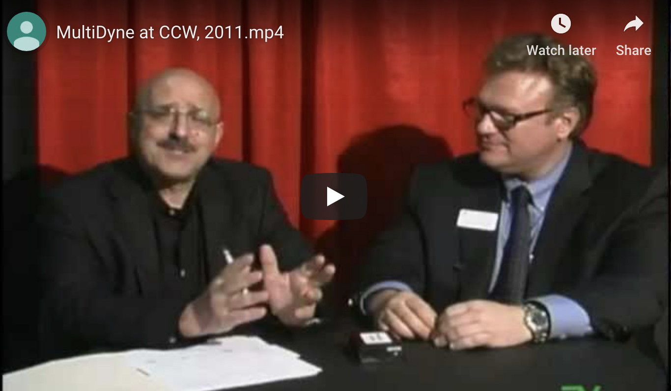 MultiDyne President Frank Jachetta at CCW 2011, HD World Show in NYC