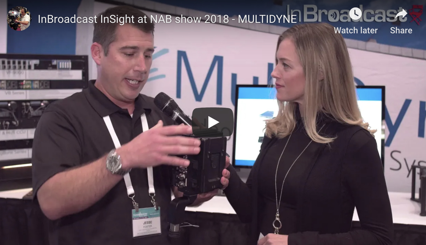 MultiDyne's Jesse Foster speaks with InBroadcast at NAB New York 2018!